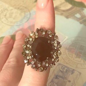 Jewelry - Black flower ring